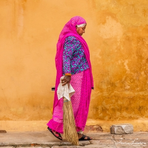 Jaipur Woman with broom